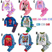 Wholesale Kids Pajamas Childrens Sleepwear Boy Girl Long Sleeve T Shirt Childrens Pants Children Clothing Kids Underwear Child Pyjamas Kids Clothes