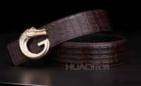 amazing animals crocodile - Crocodile Leather belts Men Advanced buisness Belts cowhide Belts Amazing best prices