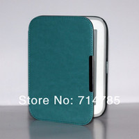 barnes noble nook ebook reader - High Quality Crazy Horse Grain Ebook Reader Smart Luxury Leather Case Cover with Magnet Clasp For Barnes amp Noble Nook GlowLight