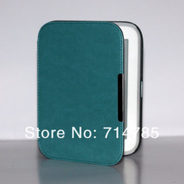 Wholesale High Quality Crazy Horse Grain Ebook Reader Smart Luxury Leather Case Cover with Magnet Clasp For Barnes amp Noble Nook GlowLight