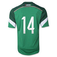 2014 Mexico World Cup Home #14 J. HERNANDEZ Soccer Jerseys, Th...