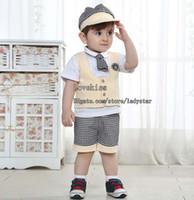 Boy Summer Short Children Set Kids Suit Outfits Toddler Clothing Baby Suit Kids Sets Infant Outfits Boys Clothes Ball Cap Short Sleeve T Shirt Summer Shorts