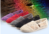 Wholesale 2014 New fashion hollow canvas shoes to help low flat casual shoes women