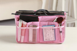Wholesale Free DHL Makeup Bag Purse Cosmetic MP3 Mp4 Phone Storage Organizer Sundry Bags Handbag Cosmetics Bags Multi Two Zipper Bag Factory Price