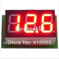 Digital Only -10 to 65 degrees Celsius 0.1v Portable Digital Voltmeter DC0-100V Red Light LED Panel Voltage Meter S7NF drop shipping