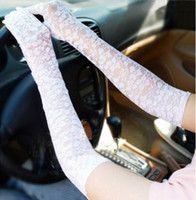 Wholesale Hepburn style lace gloves for daily use driven gloves UV resist