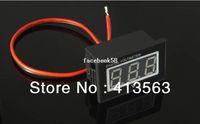 Wholesale ONE PIECE RED Digital Voltmeter DC V Motorcycle Waterproof Voltage Panel Volt Meter x25x23mm