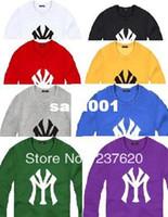 urban clothing - New sale fashion sweatshirt urban street wear clothing new york hot sale crop tops NY sweatshirts color