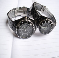 Fashion Unisex Day/Date Luxury men women watches Metal alloy band ,precize movement,new type wrist ROSRA steel watch stone Fashion Ceramics Quartz watch For Gift
