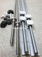 Wholesale 2 X SBR20 L mm linear rail guide BALL SCREW RM1605 mm BK BF12 Couplers mm