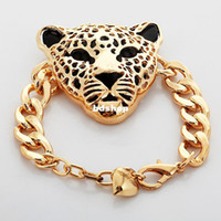 Wholesale New Cool Items Lion Head Choker Necklace Bracelet For Women Men K Chunky Gold Plated Jewelry Sets Medusa Jewellery YS727
