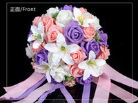 Foam beautiful lily - Beautiful Wedding Bouquet Artificial Rose With Lily Flowers ROSE Holding Flowers Bridal Bouquets Colors lt gt ewsa