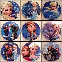 Acrylic,Resin Brooch  Frozen Cartoon Pin Badge 4.5cm Anna Elsa Princess Olaf Costume Cosplay Boys Girls Toy Fashion Badges Different Styles Mixed In stock BB180
