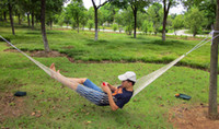 Canvas 280*80cm white Cheap Eyelet Outdoor Hammock Portable Camping Swing Couch 280*80cm