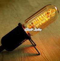 Wholesale Antique Vitage Edison bulbs Fashion incandescent edison lights E27 V W mm T45B