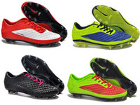Wholesale athletic Football shoes Hypervenom Phantom FG Ronaldo soccer boots football Boots Men s Soccer shoes