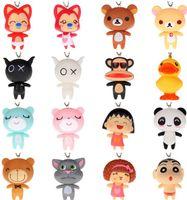 Wholesale A raccoon Rilakkuma Cartoon Anime Movies Video Game Cell Phone Straps Charms Christmas Wedding Gift Toys Pendant best set A78