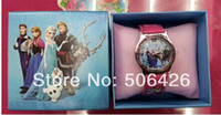 Wholesale high quality have in stock frozen Children Watch With Box Cheap Kids Cartoon Watches best XMAS gift