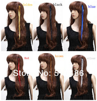 Wholesale Fashion Inch BellaVia Tinsel Hair Extensions Bling String D Rainbow Clip In Hair Extensions colors