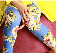 floral print pants - Hot Spring New Arrival Baby Girls Leggings Kids Flowers Printed Children Begonia Floral Tights Girl Legging Pants