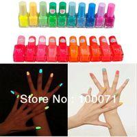 Pinks Nail Polish Gradient 3 X Fluorescent Luminous Neon Glow In Dark Varnish Nail Art Polish Enamel 20 Colors #26037