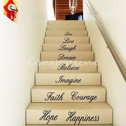 Wholesale DIY Love Live Removeable Art Characters Words PVC Vinyl Decal Home Decor Wall Sticker Quote Floor Stair Stickers