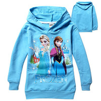 Wholesale yrs Baby boys girls Hoodies Frozen outerwear Child Long sleeve hoodies Kid apparel Cartoon sweatshirts