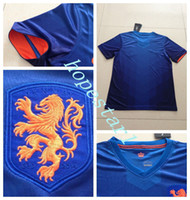 Men football set - Holland Soccer Jerseys Football Jersey Uniforms Kits Clothing Discount World Cup T Shirts Cheap Thailand Custom Tops Sets Authentic Blue Fan