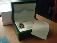 Wholesale 2014 new Mens For Rolex Oyster Watch Box Original Wooden Inner Outer Woman s Men Watches Boxes Papers