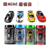 Wholesale Coke Can Mini RC Radio Remote Control Micro Racing Car Radio Control Toys kids toys color to choose
