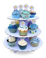 Baking Cups paper display - 10pcs Elegantlife tianlan paper cake stand cup cake display rack snack rack afternoon tea
