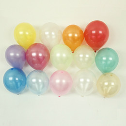 1.5 g latex pearl balloons 10 inch Birthday Wedding New Year Festival Decoration Blue Red Green Yellow More Colors Option 100piece pack