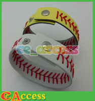 Charm Bracelets leather bracelets - 2014 New Arrival American Major League Baseball Baseball Woven Leather Bracelet