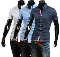 Wholesale Hot sale summer new men s fashion shirt Men s casual shirts short sleeves shirt men s shirt apparel