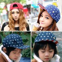 Wholesale salebags Korean Cute Kids Boys Girls Hip hop flat Hat Star Casquette Peaked Baseball Beret Parent child Cap H132