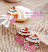 Wholesale Lovely Pet Tie for Bag packing gift tie Cupcake PVC Clear Tie