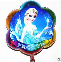 Wholesale 52 cm Frozen balloon for birthday party Princess frozen Elsa Aluminum foil cartoon helium balloons present the pros and cons of children