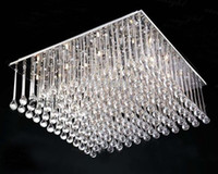 Modern Hotel 20 ~ 25sq.m K9 crystal Lamp Square Silver K9 Crystal Chandelier Restaurant Hotel Living Room Ceiling Lamp Length 80cm*width 80cm