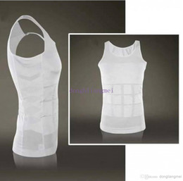 Wholesale 100pc Slim vest Mens Slimming lift Shirt Weight Shaping Bodysuit Beer Belly Body Shaping Garment Z72
