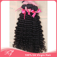 Wholesale 5a RY products brazilian human hair weaves brazilian deep wave beauty forever remy hair weave virgin hair bundles