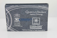 Wholesale High Qulity Quantum Science Energy Mobile Sticker Anti radiation Shield Chip with Authenticity Card sets DHL
