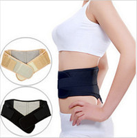 Wholesale Yellow Back waist support Massage Belt self heating back belt Supporter Magnetic Therapy Belt Waist Lower Back brace Support Belt