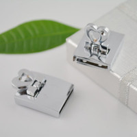 Wholesale 30Sets Rhodium Plated x3 mm Lock Jewelry Clasp For Bracelet Finding