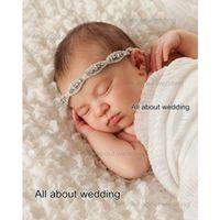 Wholesale 2016 Crystal Rhinestone Newborn Baby Headband Girl Headband Kids Spandex Flower Girl Hair Accessories