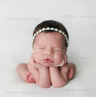 Wholesale 2015 pieces per Crystal Rhinestone Newborn Baby Headband Girl Headband Kids Flower Girl Hair Accessories Tie Backs