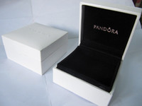 Wholesale Black Ring Boxes Bracelet Boxes Original Pandora Jewelry Packaging Boxes Black Pillow New Style Black Velvet Boxes