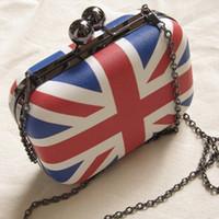 uk flag - New Mini Hand Bags Evening Bag Fashion UK England British Flag Women Messenger Bag Day Clutch Tote Long Chain Shoulder Bag H9550