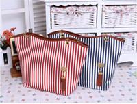 Wholesale Hot Sale Tote Bags Casual Canvas Bag Striped Tassel Chain Shoulder Bag Fashion Women Handbag Factory Price H9458