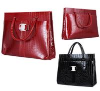 Totes designer crocodile handbags - PROMOTION New Fashion Designers Handbags Women Crocodile Pattern Bag PU LEATHER HANDBAG Shoulder Totes Bags H9414