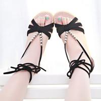 Women Low Heel PU 2014 fashion flats sandals slave beads wedges sandals women cheap sandals strappy sandals women shoes high heels black gladiator sandals